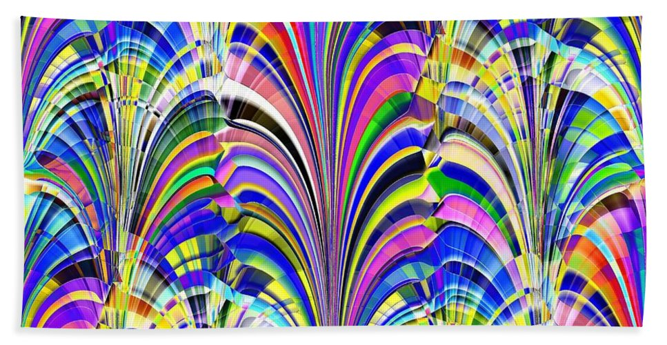 Abstract Hand Towel featuring the digital art Glorious by Tim Allen