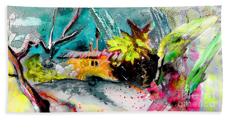 Pastel Painting Bath Sheet featuring the painting Glory Of Nature by Miki De Goodaboom