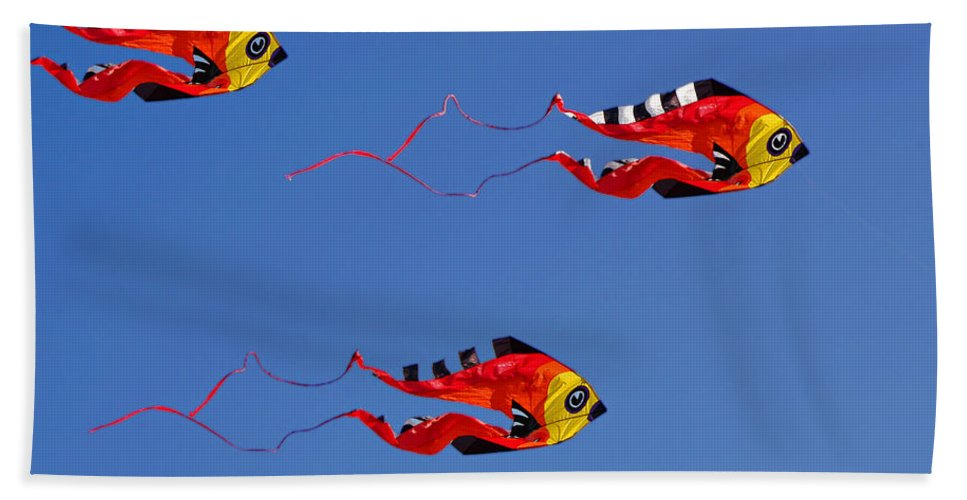 Clay Bath Towel featuring the photograph Go Fly A Kite by Clayton Bruster