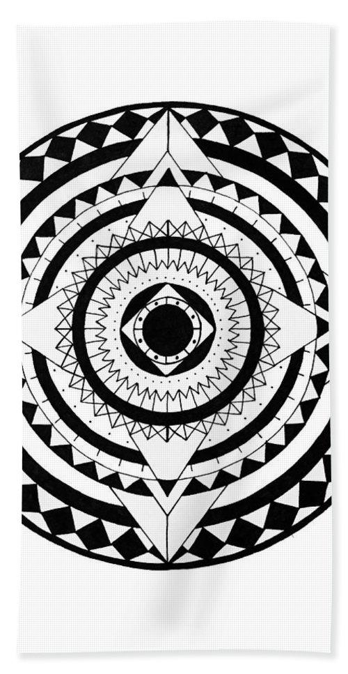 Mandala Bath Towel featuring the digital art Go Your Own Way by Elizabeth Davis