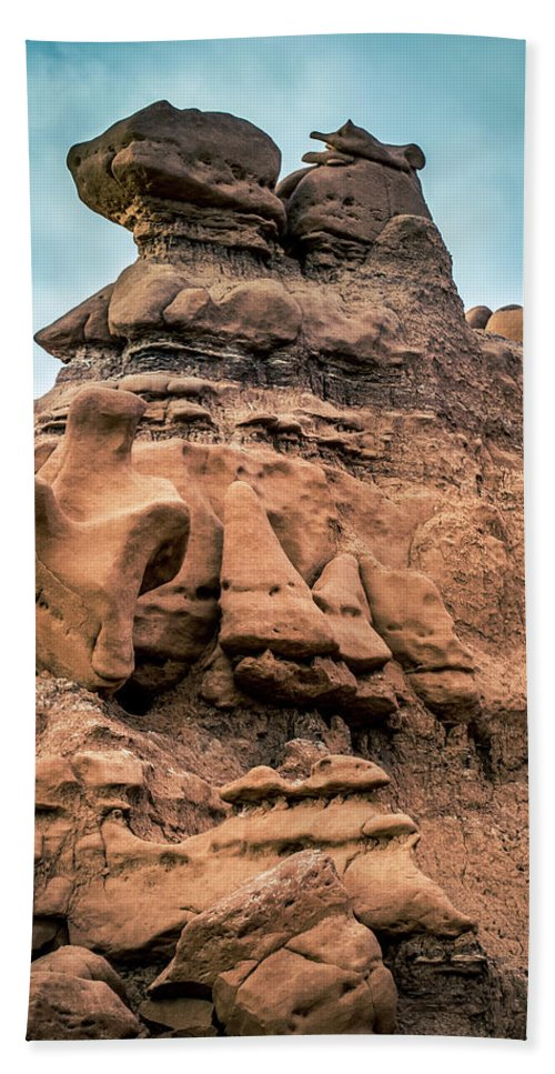 Goblin Valley Bath Sheet featuring the photograph Goblin Valley 8 by Mike Penney