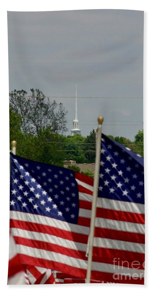 Memorial Day Bath Sheet featuring the photograph God And Country by John Franke