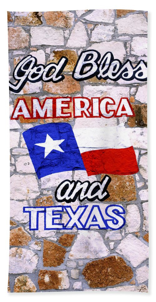 Wall Bath Sheet featuring the photograph God Bless Amreica And Texas 3 by Marilyn Hunt