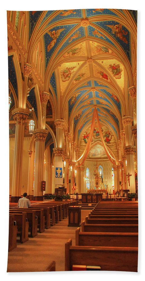 Cathedral Bath Sheet featuring the photograph God Do You Hear Me by Ken Smith