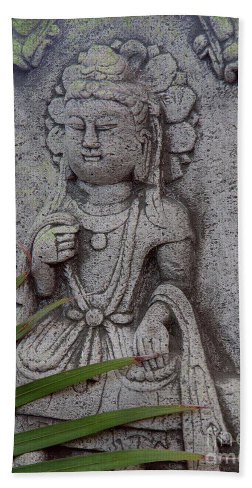 Shiva Bath Sheet featuring the photograph God Shiva by Susanne Van Hulst