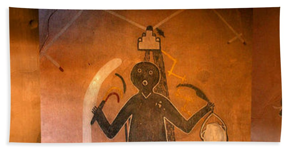 Anasazi Bath Sheet featuring the photograph God's Of Kuaua Pueblo by David Lee Thompson