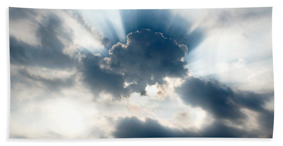 Sun Bath Sheet featuring the photograph Gods Rays by Greg Fortier