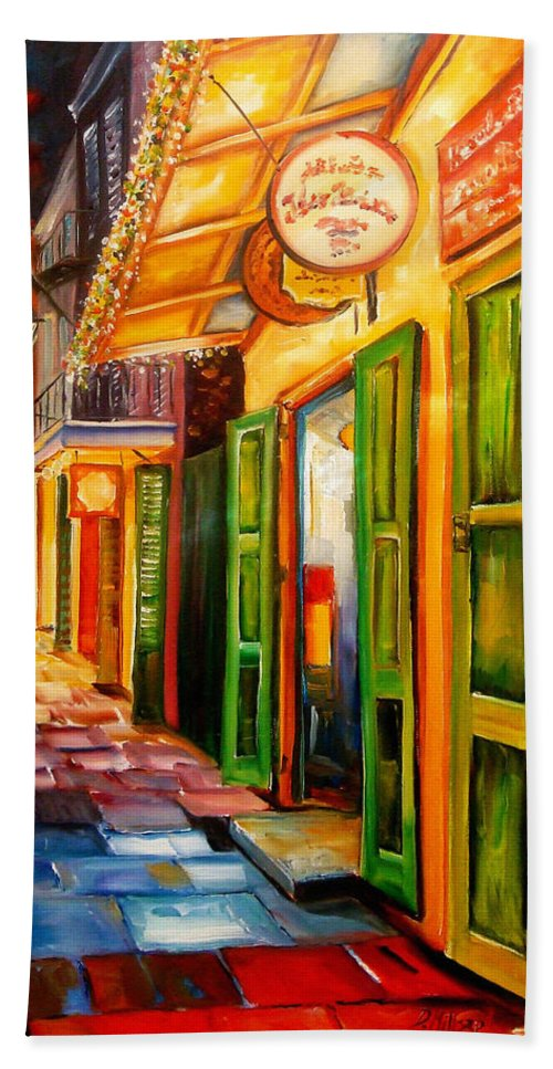 New Orleans Bath Towel featuring the painting Going Back To New Orleans by Diane Millsap