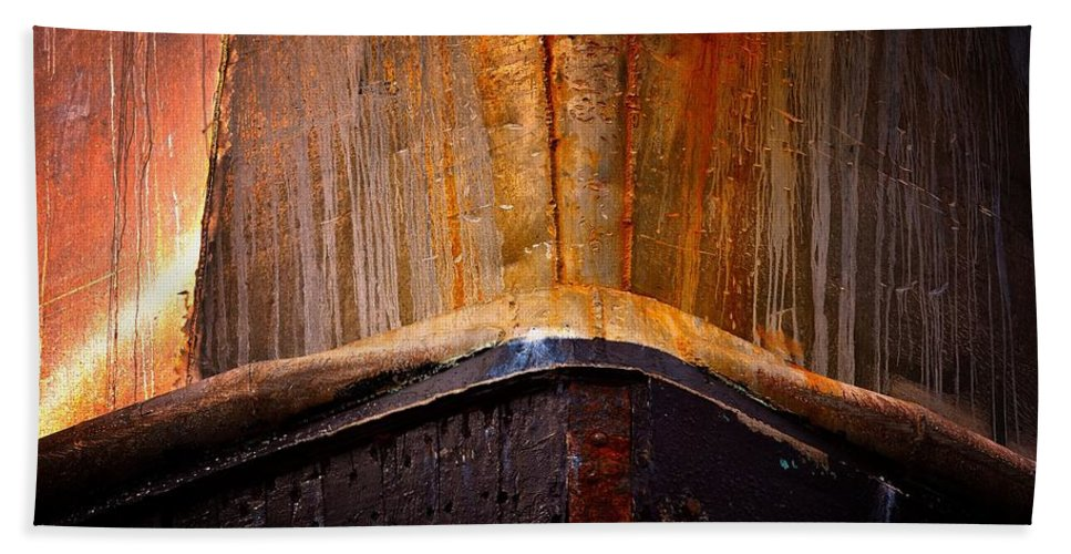 Abstract Bath Sheet featuring the photograph Gold Bow by Lauren Leigh Hunter Fine Art Photography