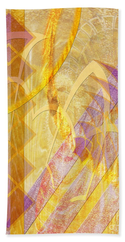 Gold Fusion Bath Towel featuring the digital art Gold Fusion by John Beck