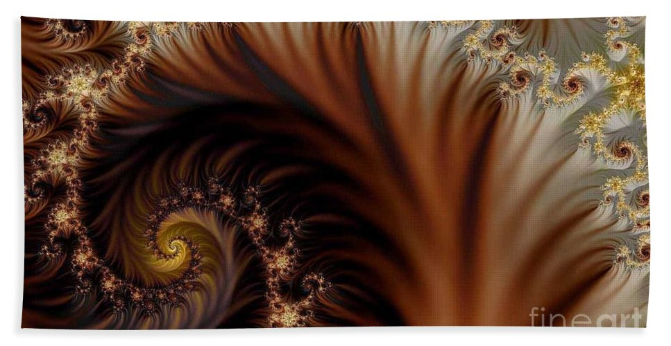 Clay Hand Towel featuring the digital art Gold In Them Hills by Clayton Bruster