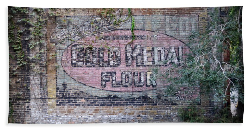 Gold Medal Flour Bath Towel featuring the photograph Gold Medal Flour by Tim Nyberg