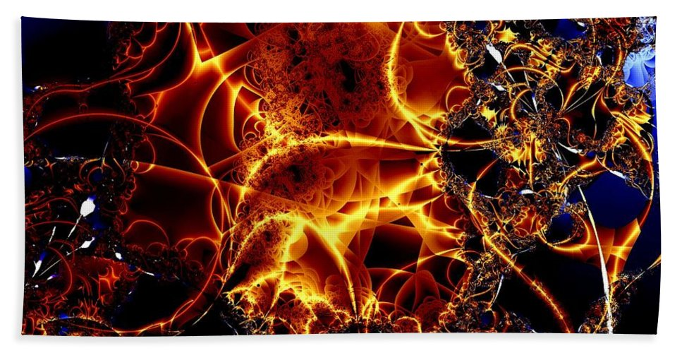 Cables Hand Towel featuring the digital art Golden Cabling by Ron Bissett
