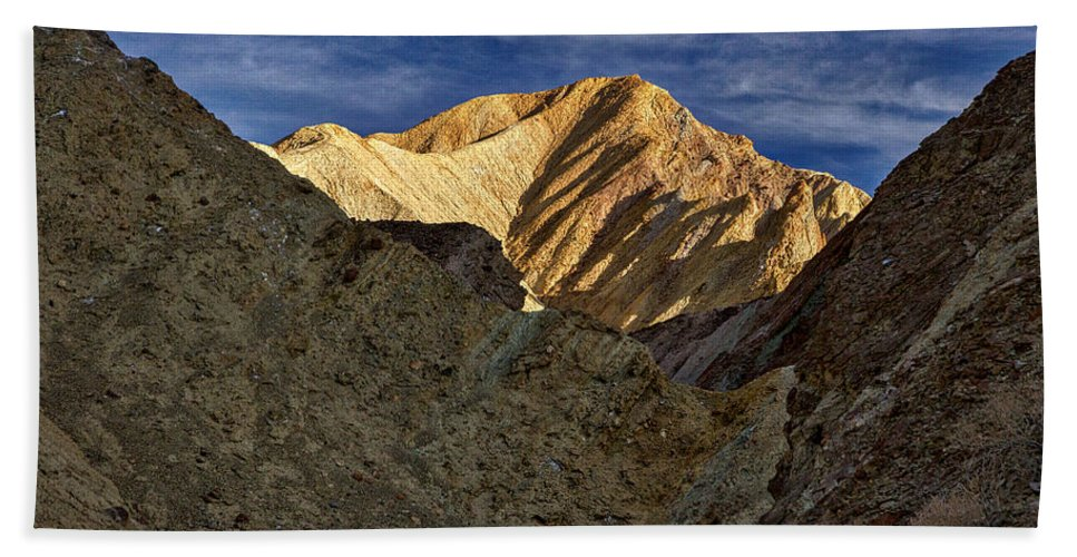 Death Valley Hand Towel featuring the photograph Golden Canyon View #2 - Death Valley by Stuart Litoff