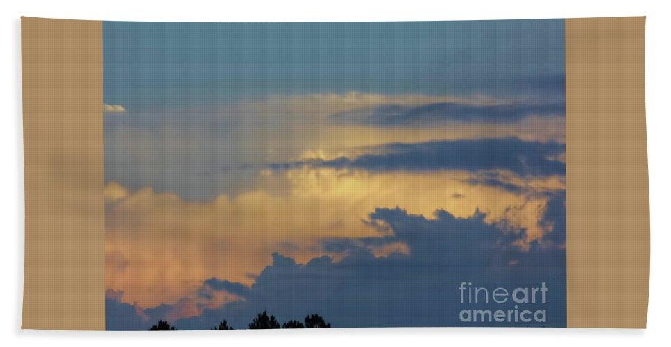 Sunset Bath Sheet featuring the photograph Golden Clouds by D Hackett