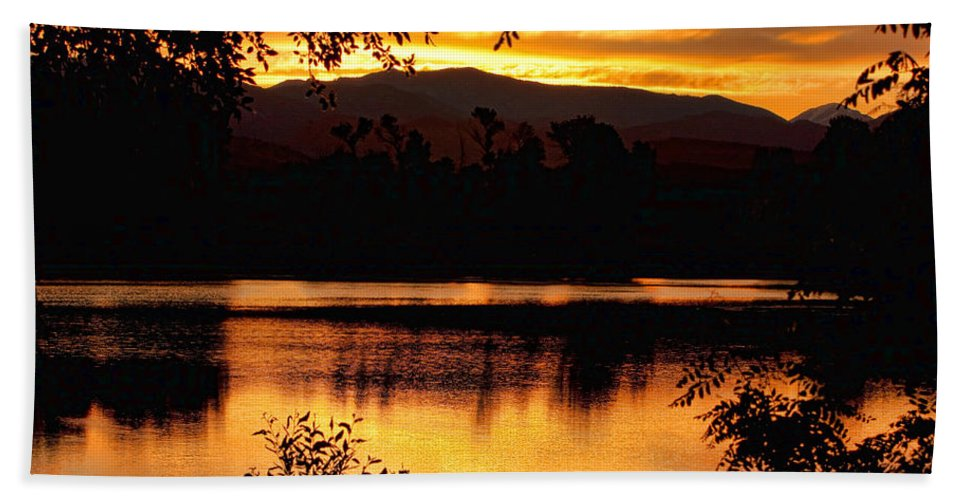 Gold Hand Towel featuring the photograph Golden Day At The Lake by James BO Insogna