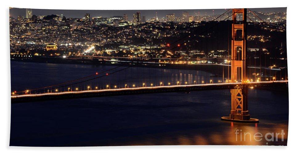 San Francisco Bath Sheet featuring the photograph Golden Gate by Bob Christopher