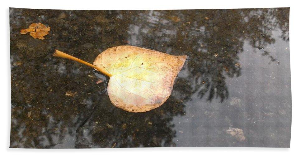 Autumn Bath Sheet featuring the photograph Golden Heart by LKB Art and Photography