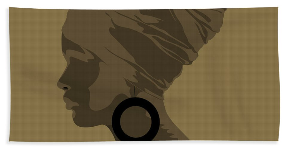 Queen Bath Sheet featuring the digital art Golden Lady by Scheme Of Things