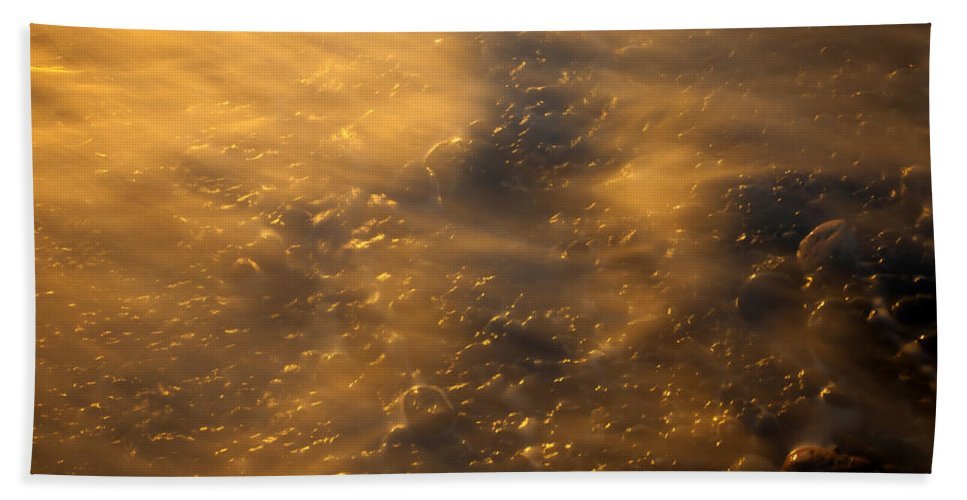 Tides Bath Sheet featuring the photograph Golden Light by Mike Dawson