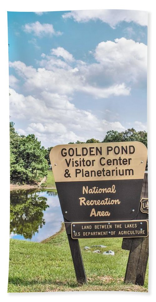 Land Between The Lakes Hand Towel featuring the photograph Golden Pond Visitor Center And Planetarium by Chad Fuller