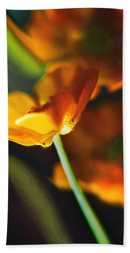 Flowers Hand Towel featuring the photograph Golden Possibilities... by Arthur Miller