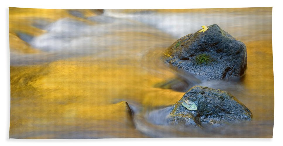 Leaves Bath Sheet featuring the photograph Golden Refuge by Mike Dawson