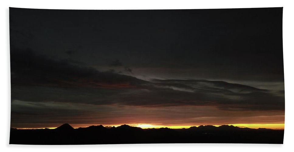 Drone Photography Hand Towel featuring the photograph Golden Sliver by David Stevens
