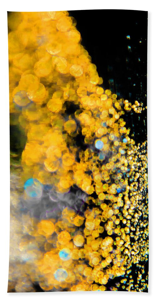 Abstract Bath Sheet featuring the photograph Golden Spell by Alex Art and Photo