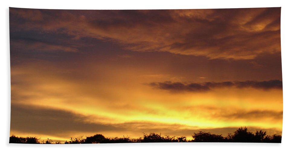 Sunset Bath Sheet featuring the photograph Golden Sunset 1 by Carol Lynch