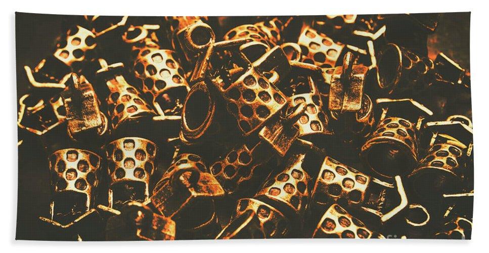 Financial Hand Towel featuring the photograph Golden Wells by Jorgo Photography - Wall Art Gallery
