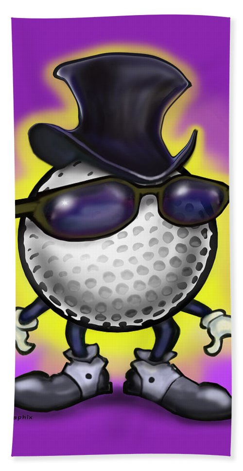 Golf Bath Sheet featuring the digital art Golf Classic by Kevin Middleton