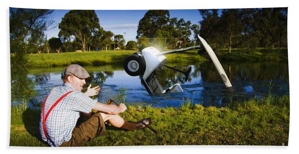 Vacation Hand Towel featuring the photograph Golf Problem by Jorgo Photography - Wall Art Gallery