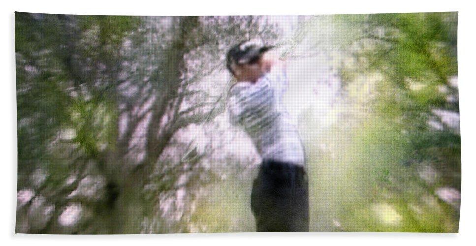 Golf Bath Sheet featuring the painting Golf Trophee Hassan II In Royal Golf Dar Es Salam Morocco 05 by Miki De Goodaboom