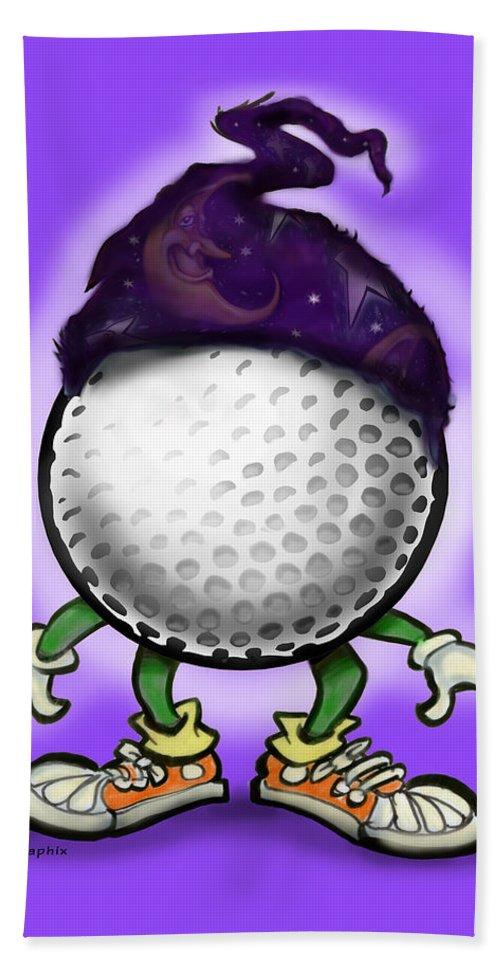 Golf Bath Sheet featuring the digital art Golf Wizard by Kevin Middleton