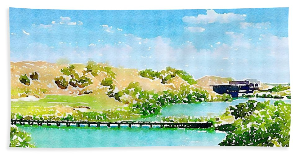 Golf Bath Sheet featuring the digital art Golfers Delight by Sherry Turner