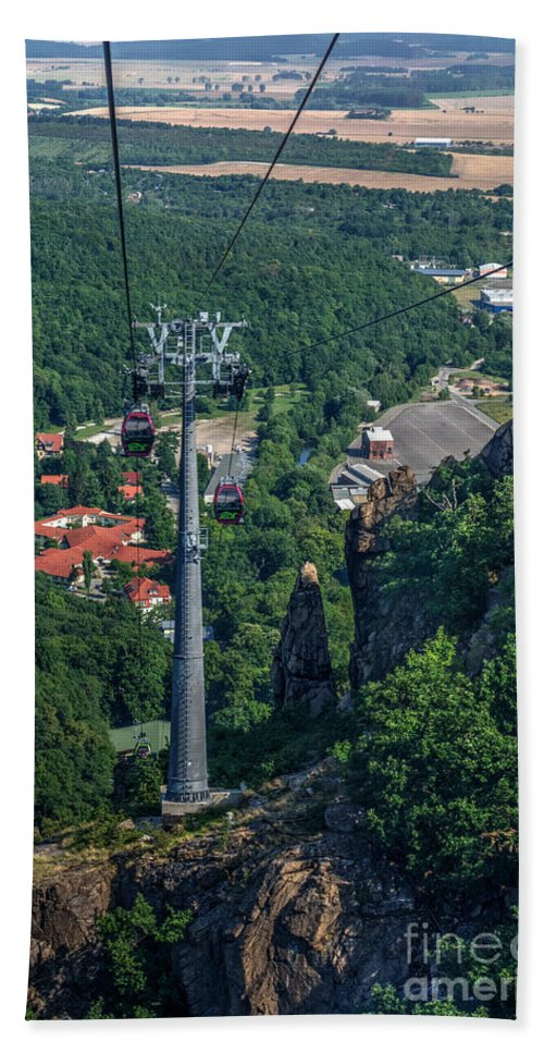 View Hand Towel featuring the photograph Gondola Hexentanzplatz by MSVRVisual Rawshutterbug