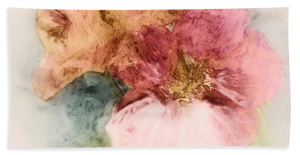 Flowers Hand Towel featuring the digital art Gone Native by RC DeWinter