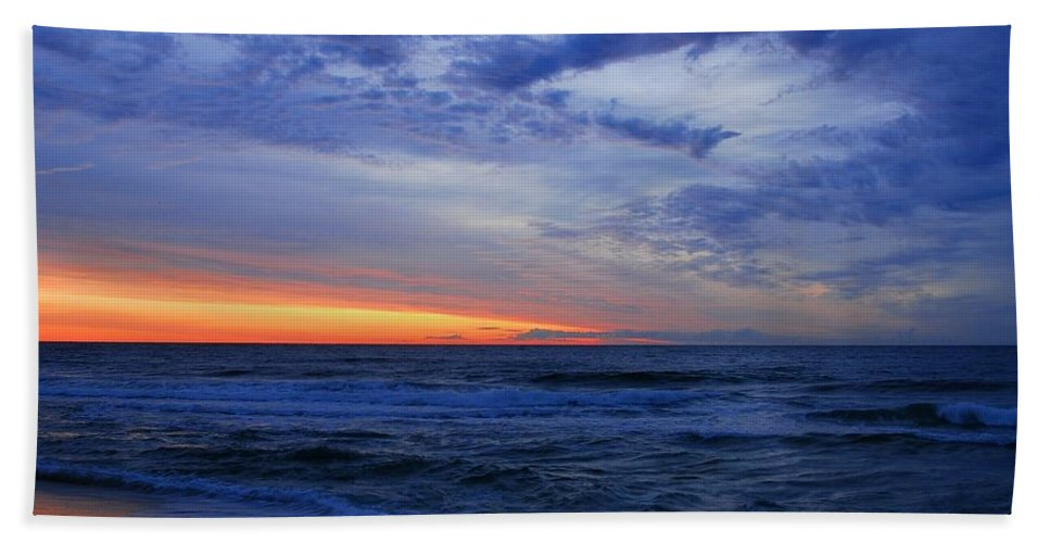 Jersey Shore Bath Sheet featuring the photograph Good Morning - Jersey Shore by Angie Tirado