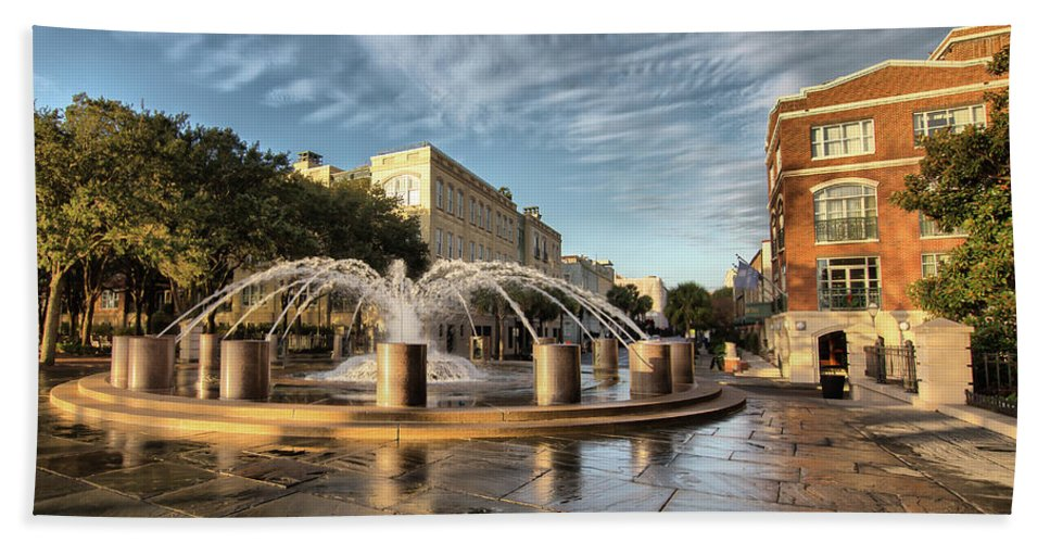Charleston Hand Towel featuring the photograph Good Morning Charleston by Lynne Jenkins