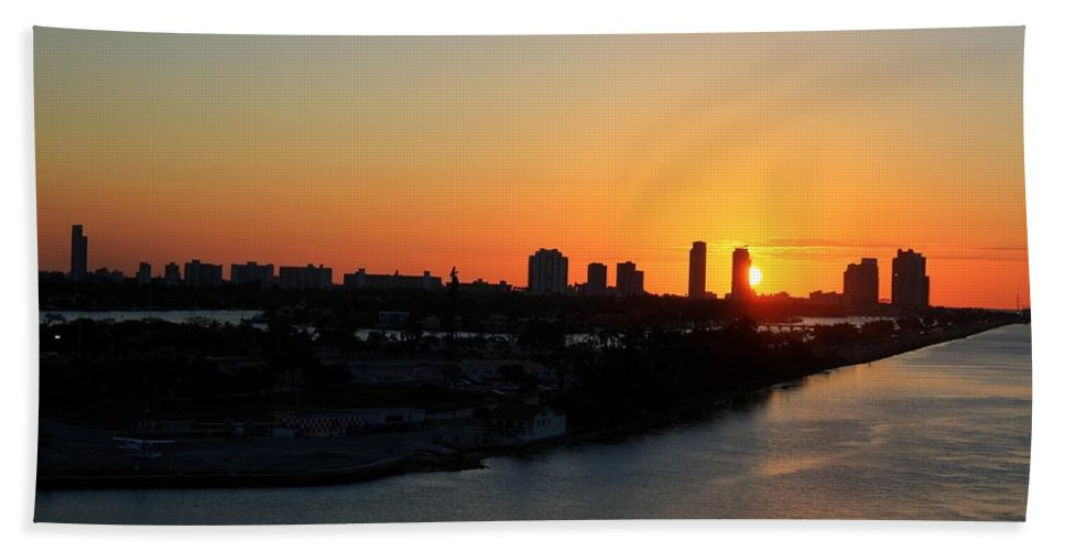 Miami Bath Sheet featuring the photograph Good Morning Miami by Shelley Neff