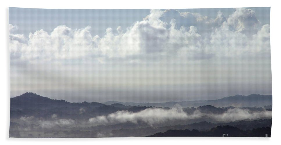 Mountains Hand Towel featuring the photograph Good Morning Puerto Rico by Gilberto Marcano