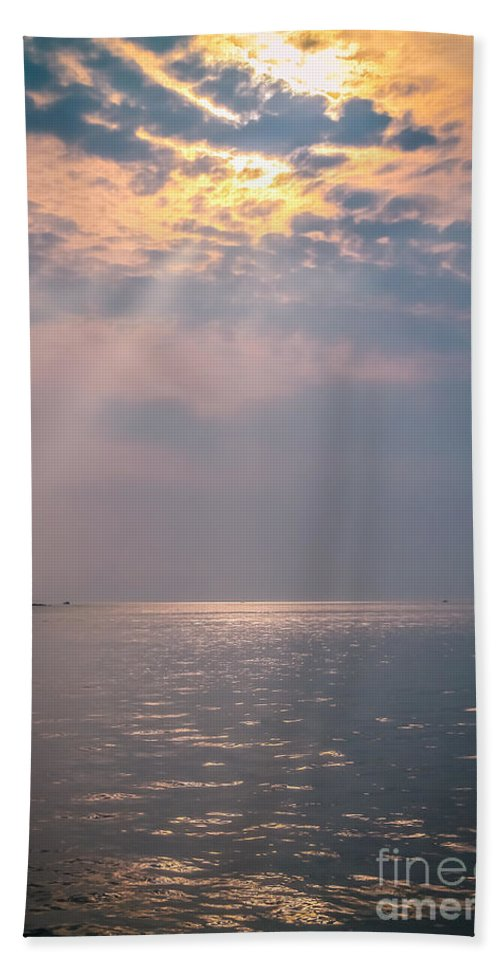 Ocean Bath Sheet featuring the photograph Good Morning Sunshine by Claudia M Photography