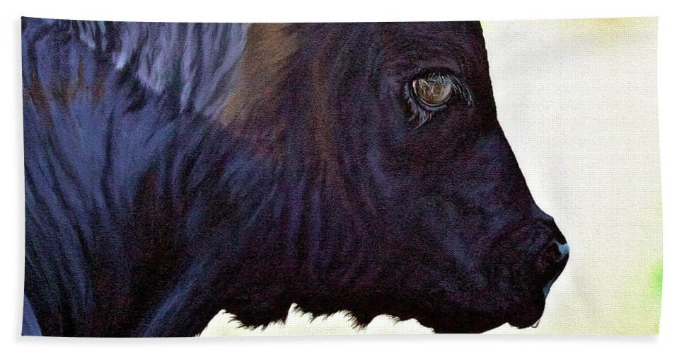 Calf Bath Sheet featuring the painting Good Morning Sunshine by Wendy Mae Peters