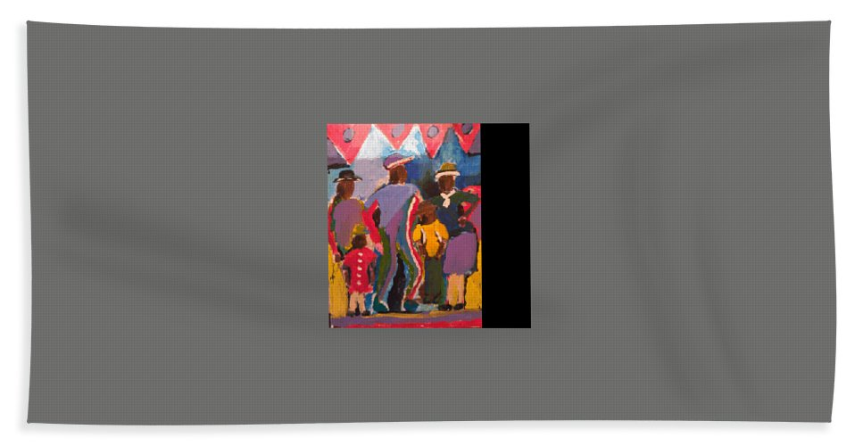 Hand Towel featuring the painting Good Time by Bethany Hannigan