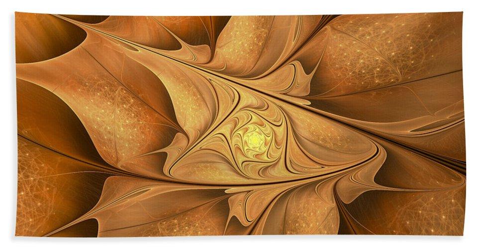 Fractal Bath Sheet featuring the digital art Goodbye Summer-welcome Autumn by Amorina Ashton