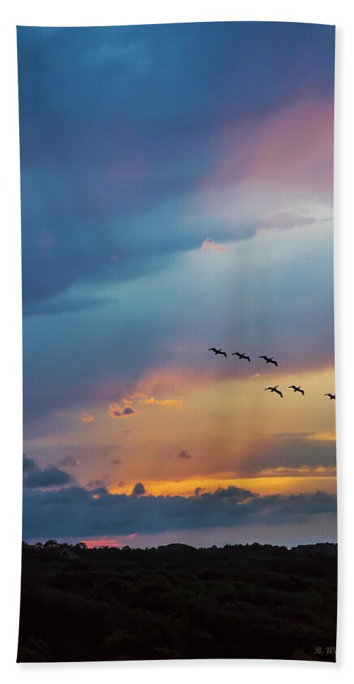 2d Bath Sheet featuring the photograph Goodbye To The Day by Brian Wallace
