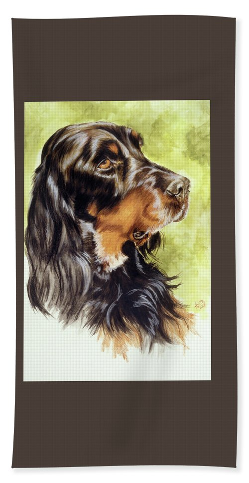 Sporting Group Bath Sheet featuring the painting Gordon Setter by Barbara Keith