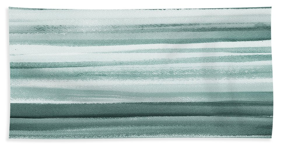 Gray Bath Towel featuring the painting Gorgeous Grays Abstract Interior Decor II by Irina Sztukowski