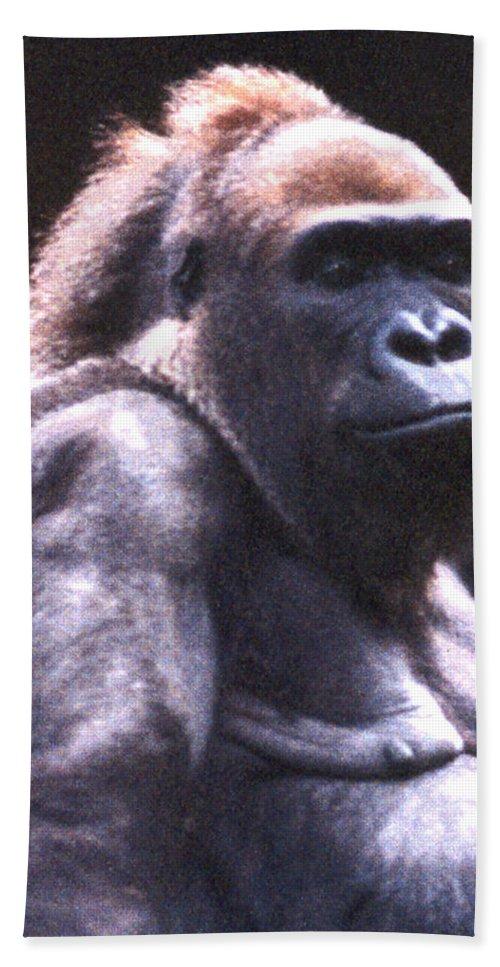 Gorilla Bath Sheet featuring the photograph Gorilla by Steve Karol
